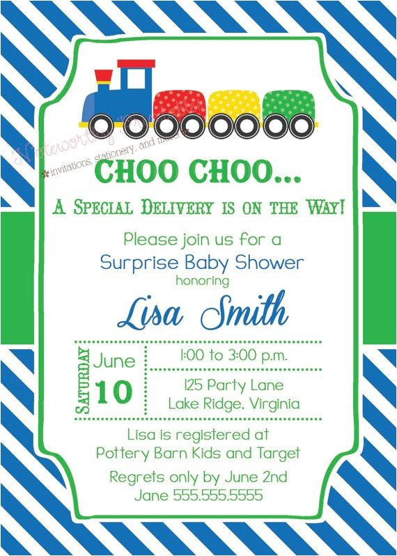 train baby showers