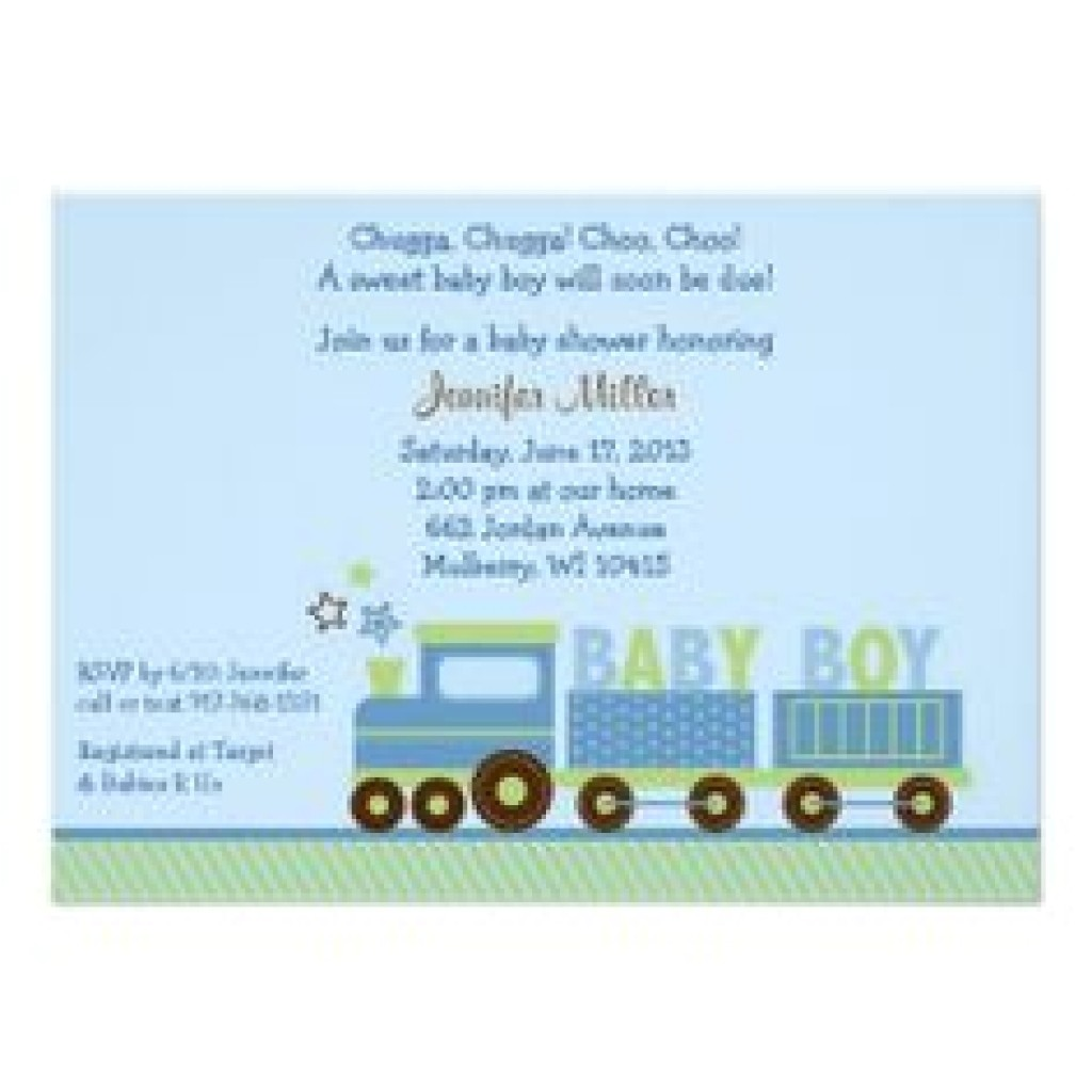 baby shower invitation cute choo choo train baby shower invi