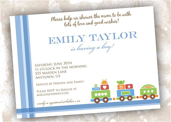train theme baby shower or birthday