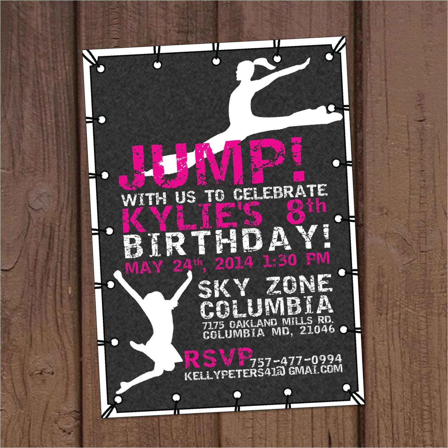girl jump trampoline park birthday party