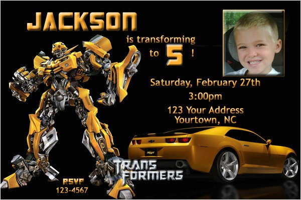 bumble bee birthday party invitations