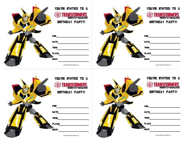 Transformer Birthday Invitations Printable Free Transformers Birthday Invitations Free Printable