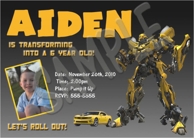 transformer invitation to print