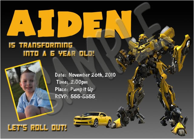 transformers birthday invitations template