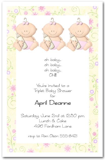 babycakes triplet girl baby