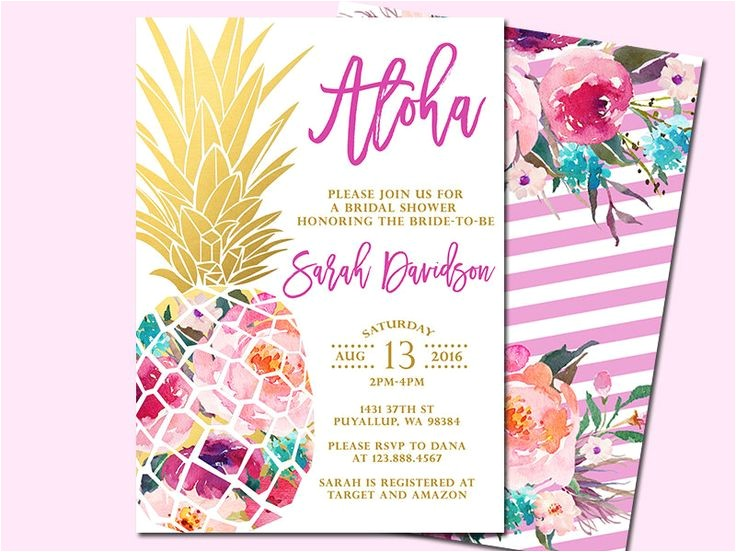 hawaiian invitations