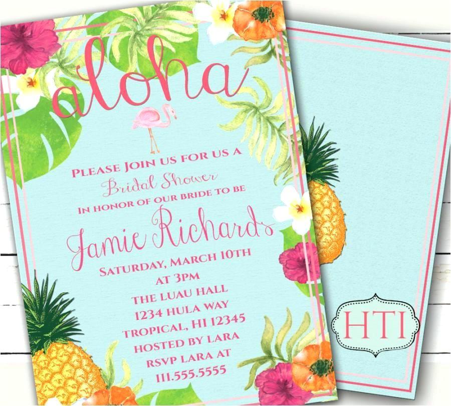unique hawaiian invitation templates free or luau invitation aloha luau bridal shower invitation tropical invitation pineapple flamingo wedding printable invitation free printable hawaiian invitation