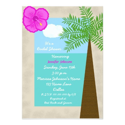 tropical bridal shower invitation tropical days