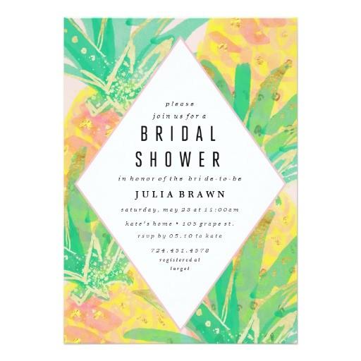 tropical luau bridal shower invitation