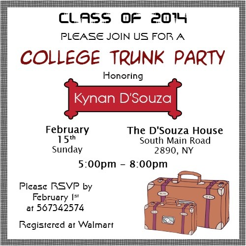 good ideas to throw the perfect college trunk party