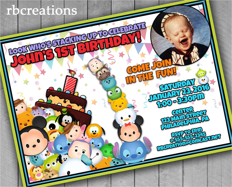 tsum tsum birthday invitations tsum tsum