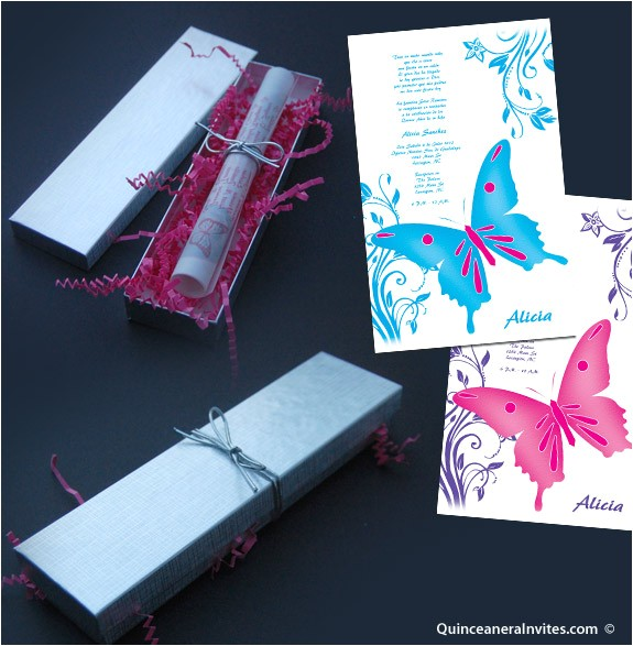 collectionqdwn quinceanera invitations in a tube