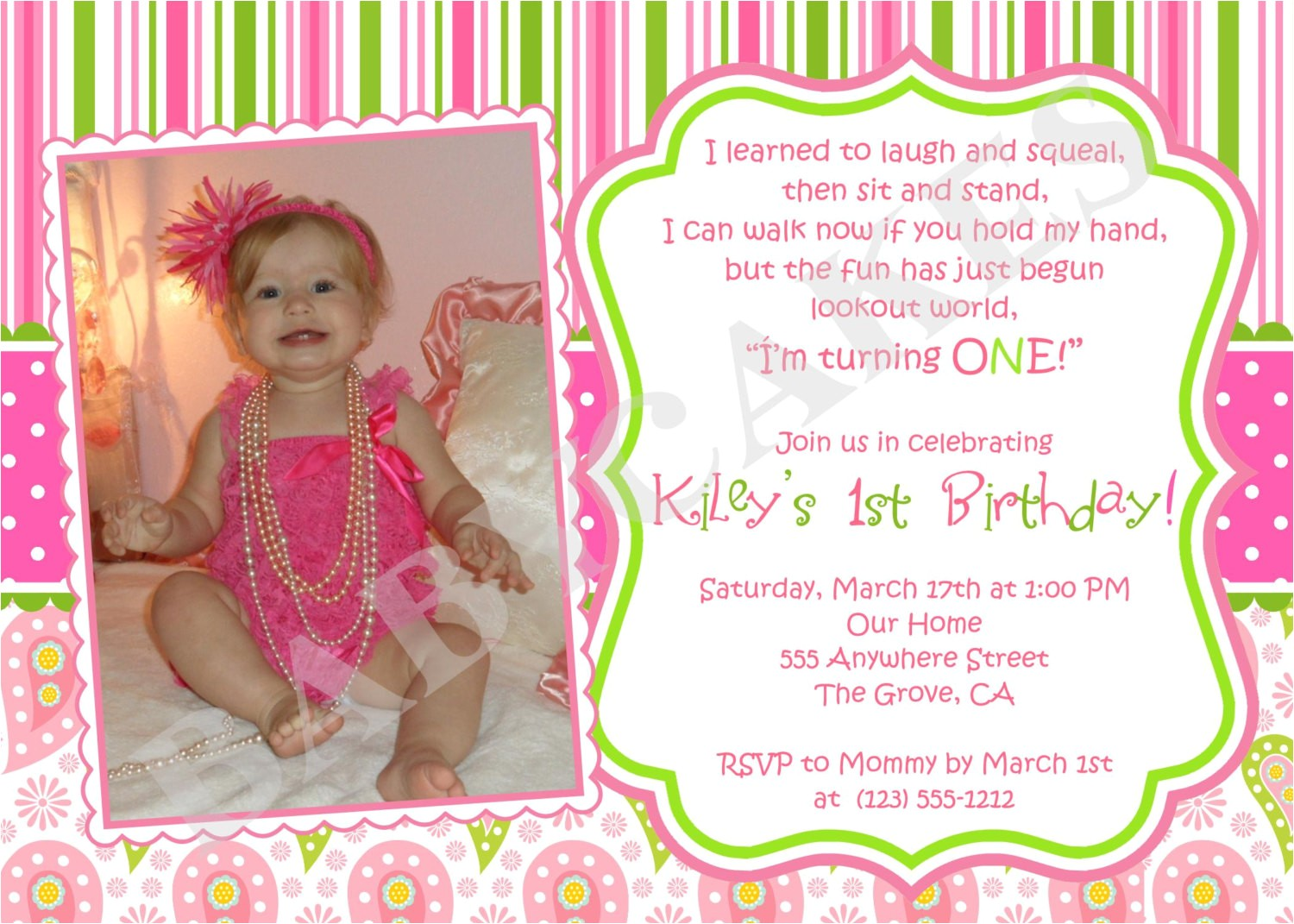 first birthday invitation wording ideas