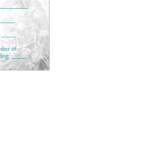 winter turquoise blue snowflakes quinceanera rsvp invitation 161266909491689979