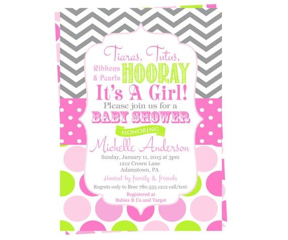 girls baby shower invitations tiaras