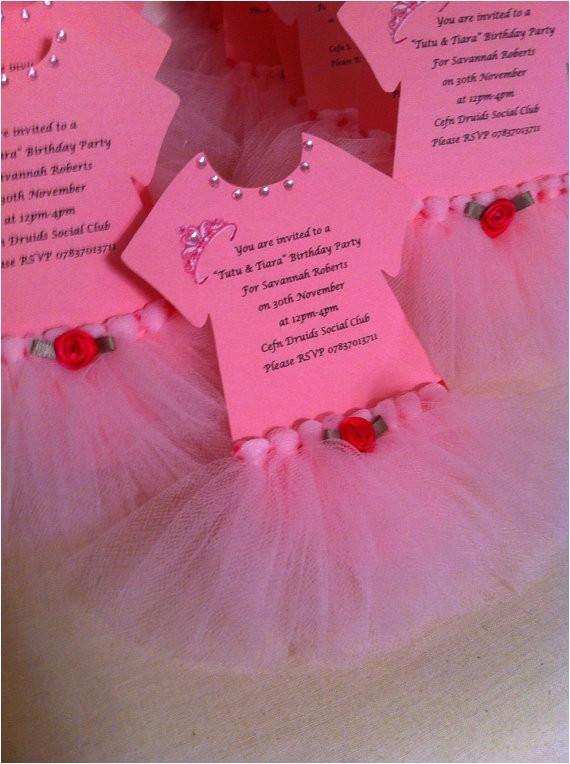 tutu invitations for tutu themed baby
