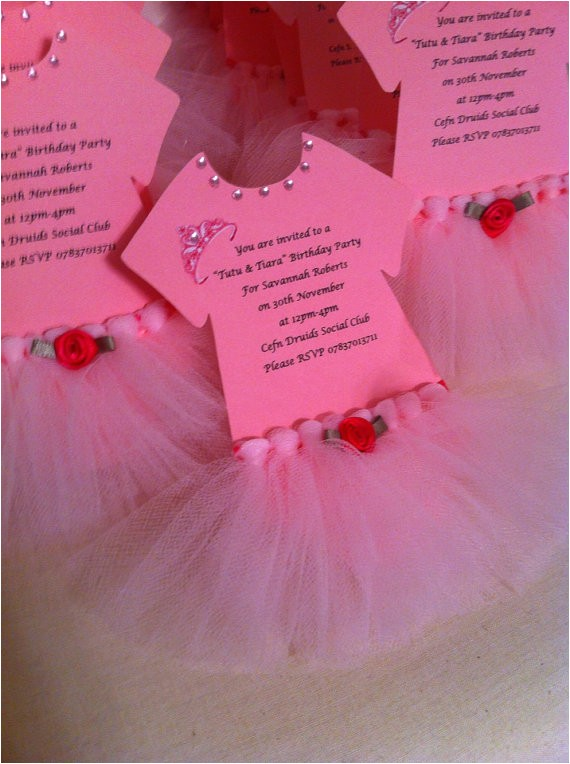 tutu invitations for tutu themed baby