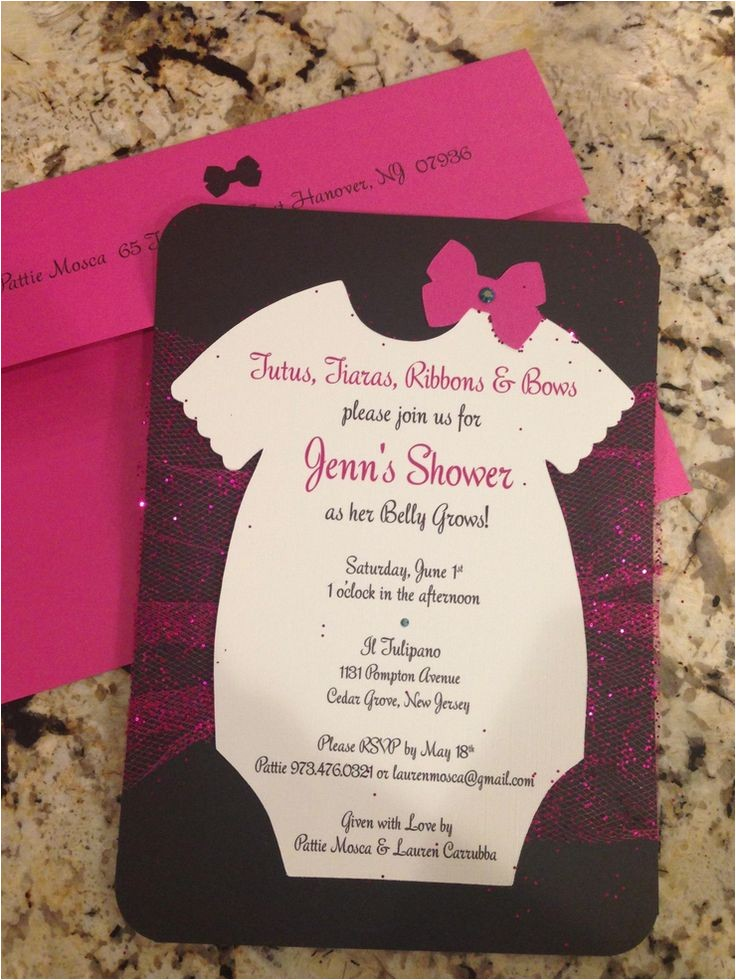 tutu themed baby shower invitations 2
