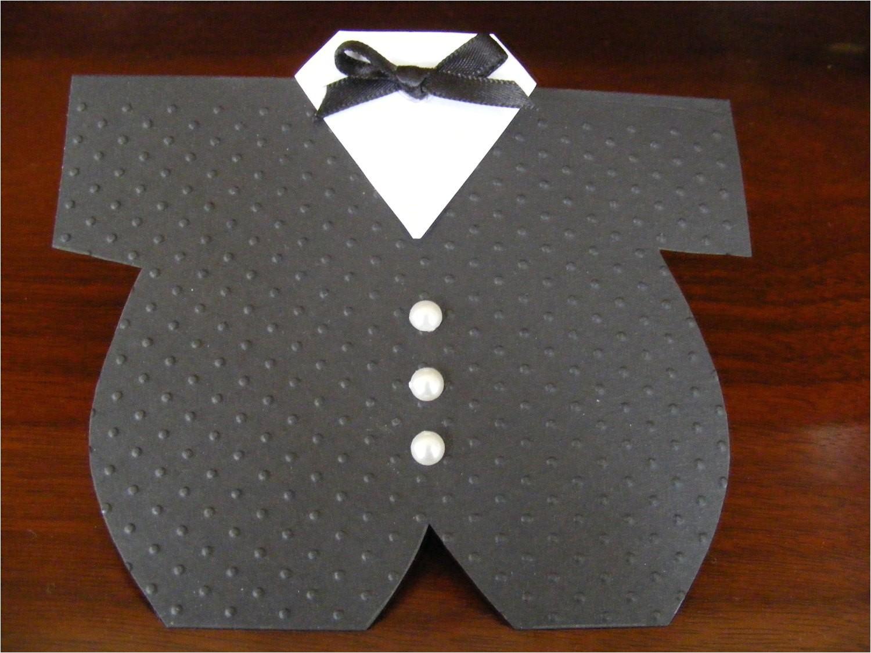 onesie tuxedo card baby shower