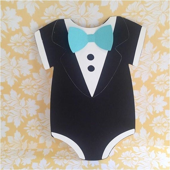 boys baby shower tuxedo invitations