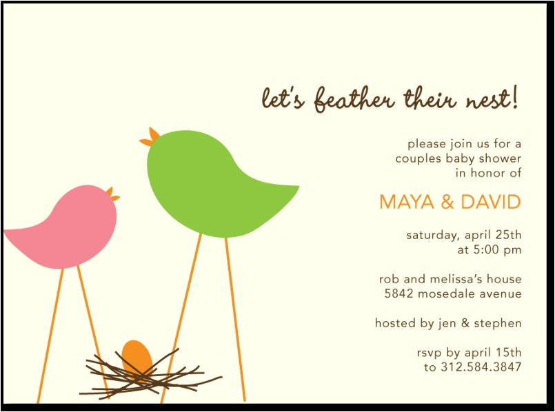 colors classic tweety bird baby shower invitations with hi