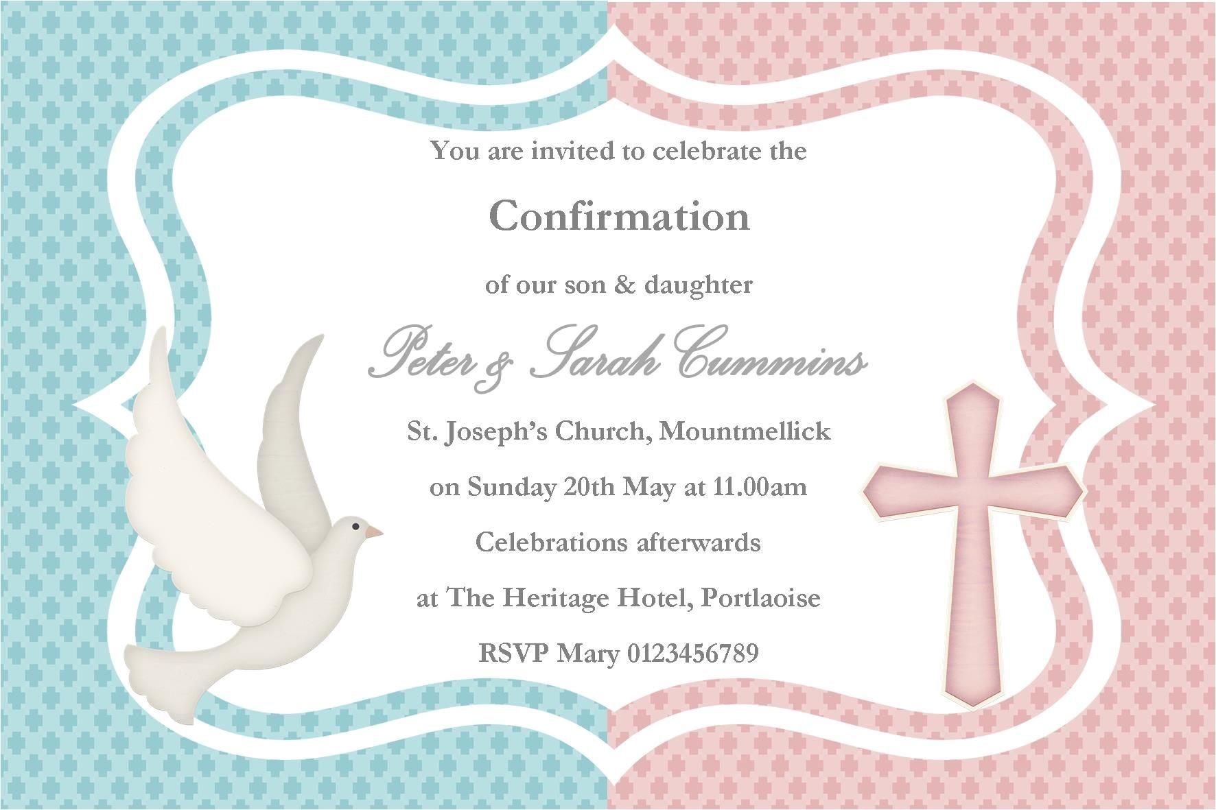 twin baptism invitations