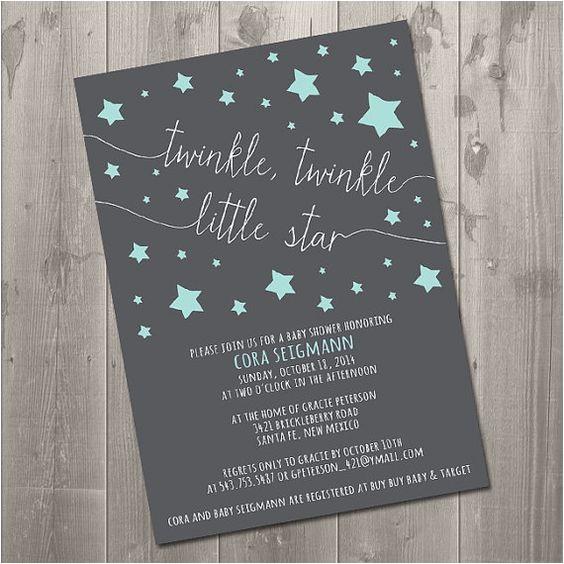 Twinkle Twinkle Little Star Baby Shower Invitation Wording Twinkle Twinkle Little Star Baby Shower Invitation Diy