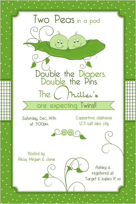peas in a pod two peas in a pod baby shower invitation twins invite printable