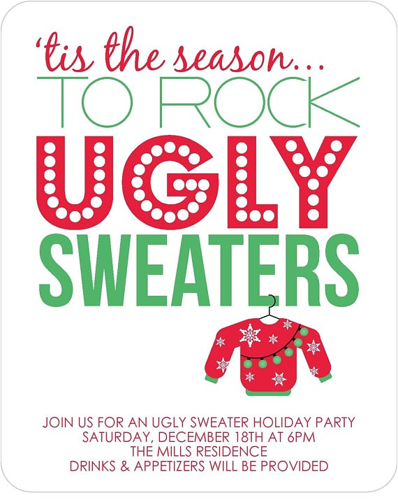 ugly sweater party invitations set of 12
