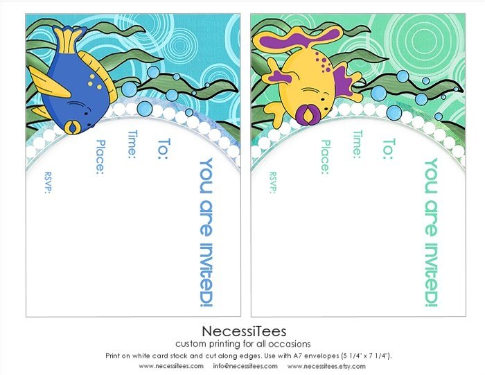 free under the sea birthday printables from necessitees