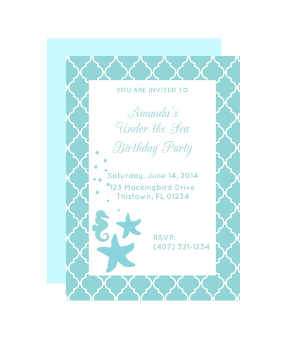Under the Sea Birthday Invitations Free Printable Free Printable Under the Sea Party Invitation From