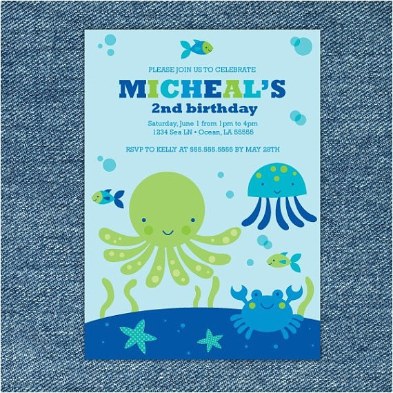 under the sea party invitation printable