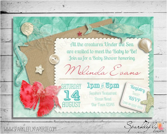 under the sea baby bridal shower