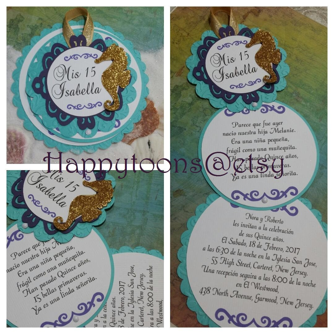 under the sea quinceanera invitations