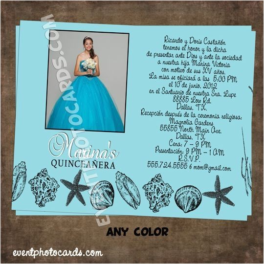 Under the Sea themed Quinceanera Invitations Under the Sea Quinceanera theme Quinceanera Pinterest