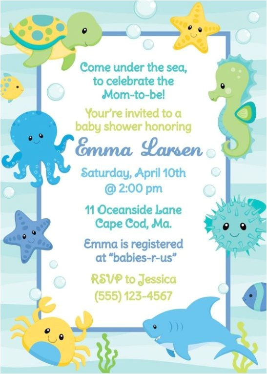 underwater baby shower invitations superior baby shower slideshow ideas 10