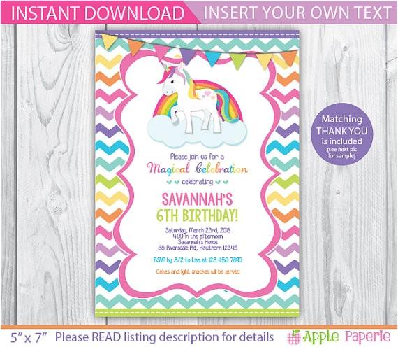 rainbow unicorn birthday unicorn