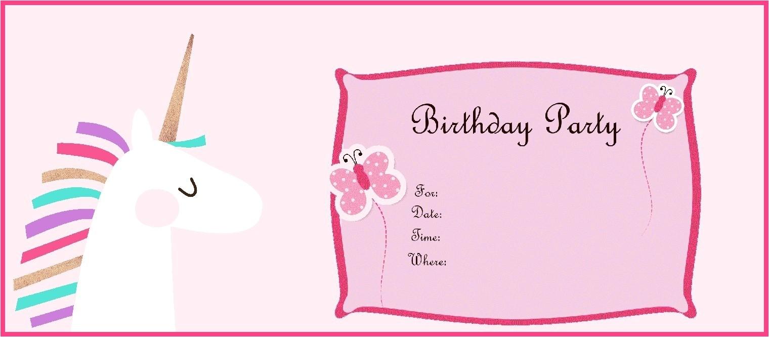 free printable unicorn birthday party invitation