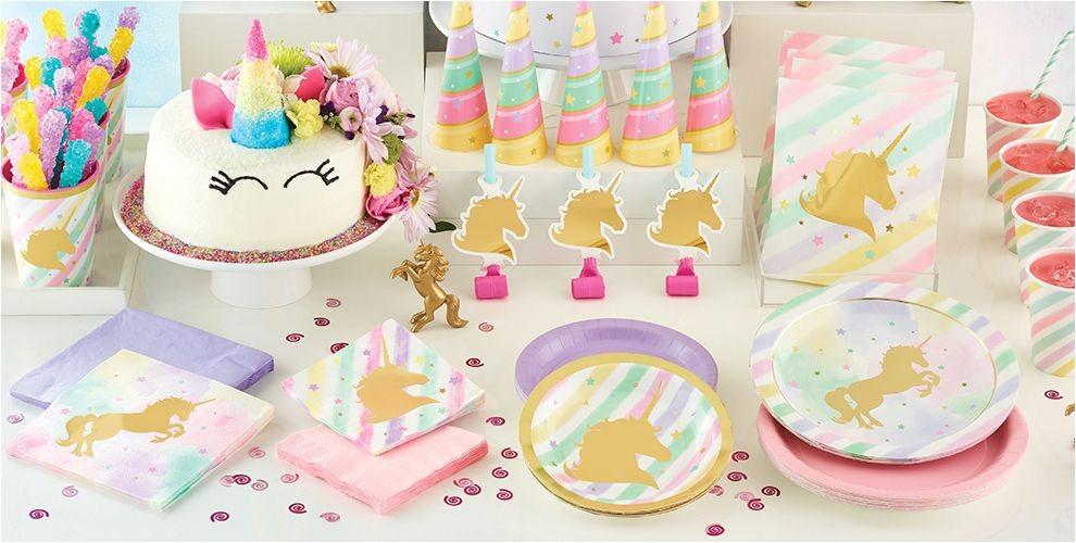 sparkling unicorn party supplies do