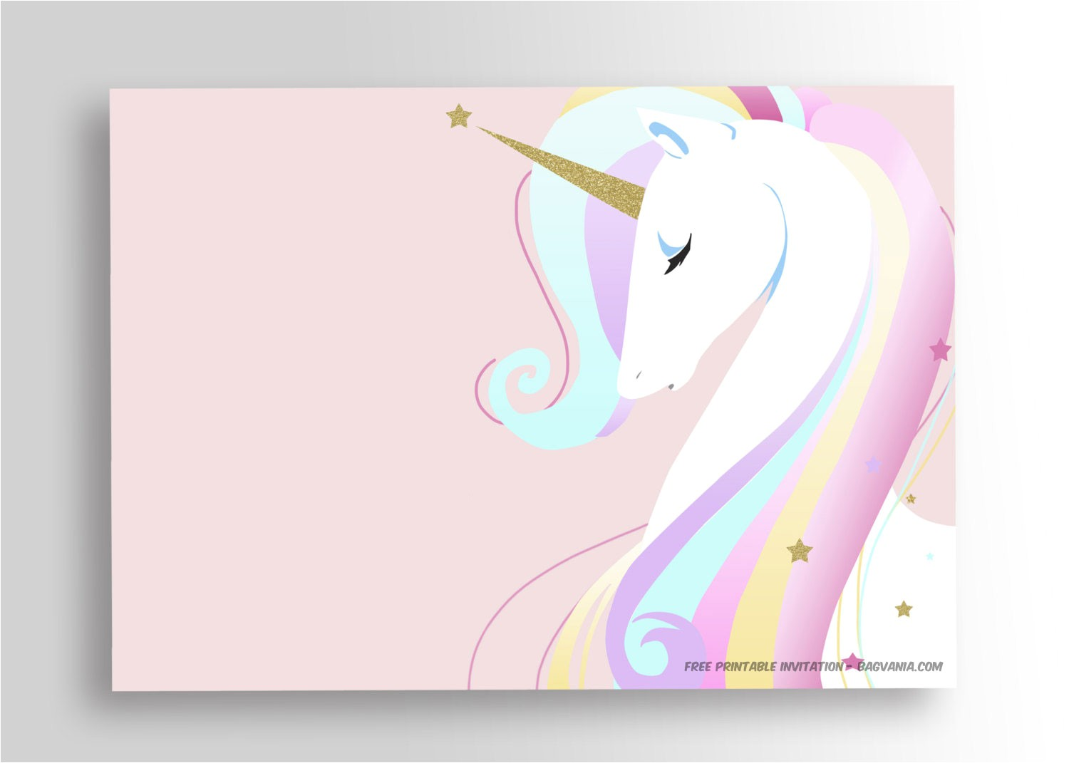 free printable unicorn birthday invitation template