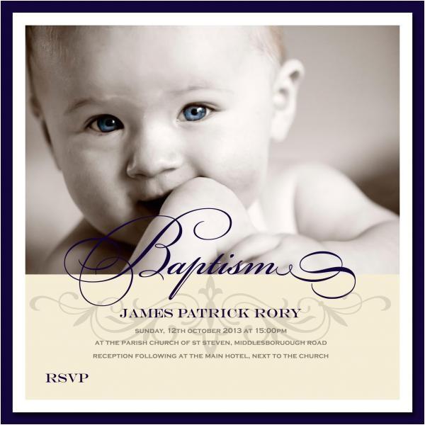 "Unique Baptismal Invitation for Baby Boy Christening Invitations 6"" Flat Square Baptism or"