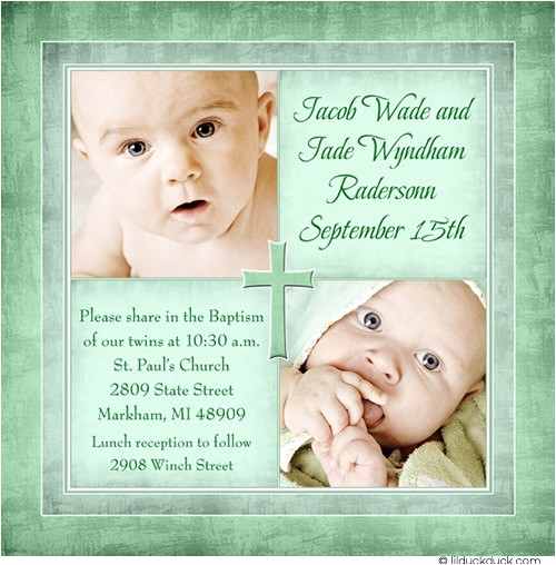 personalized catholic christening invitation