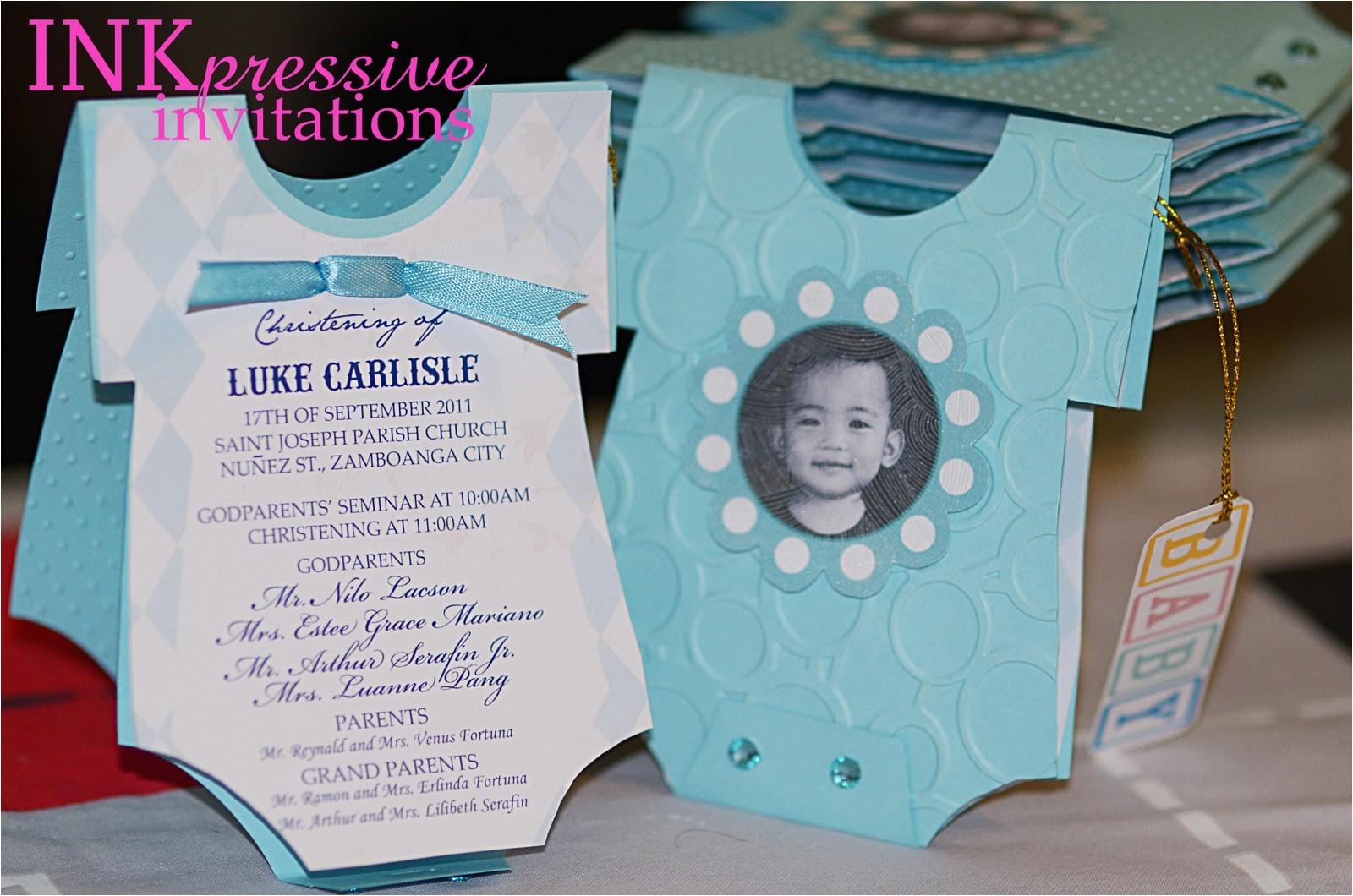 baptism invitations baby onesie classic