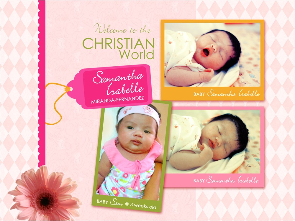 customized birthday and christening invitation