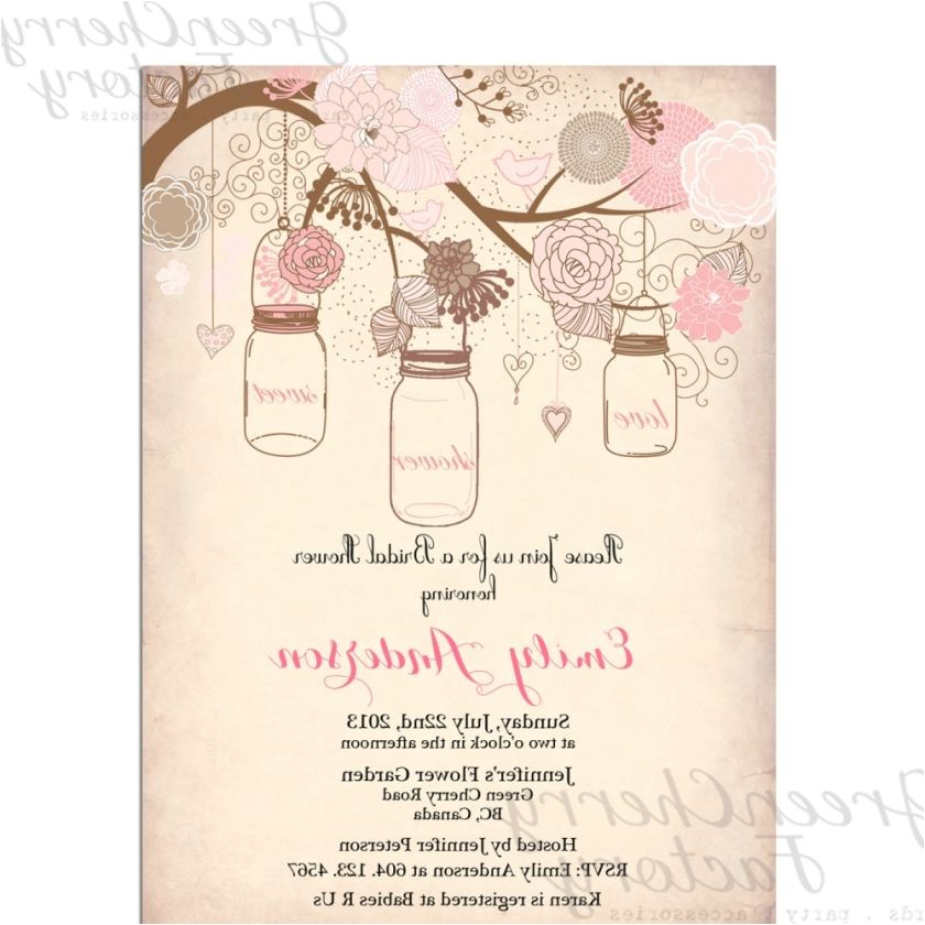 Unique Bridal Shower Invitation Ideas Free Wedding Shower Invitation Templates as Impressive