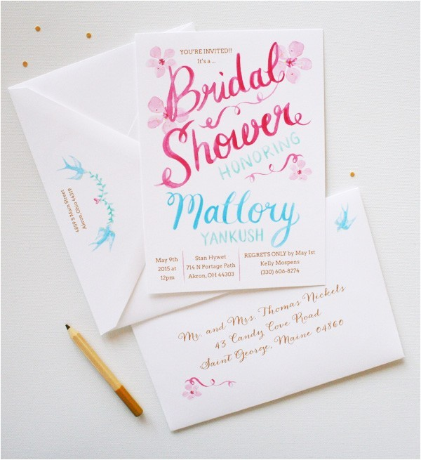 8 unique bridal shower invitations