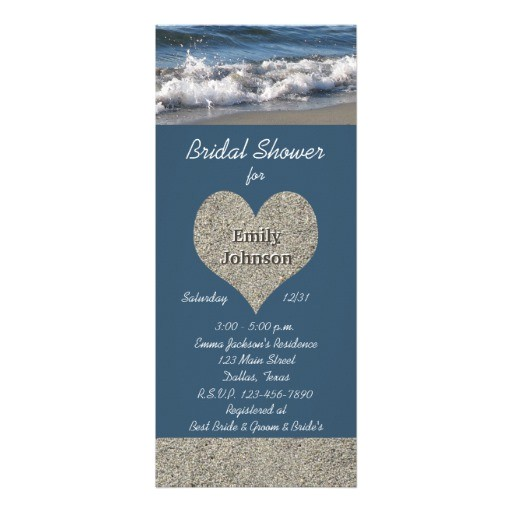 bridal shower invitations for beach