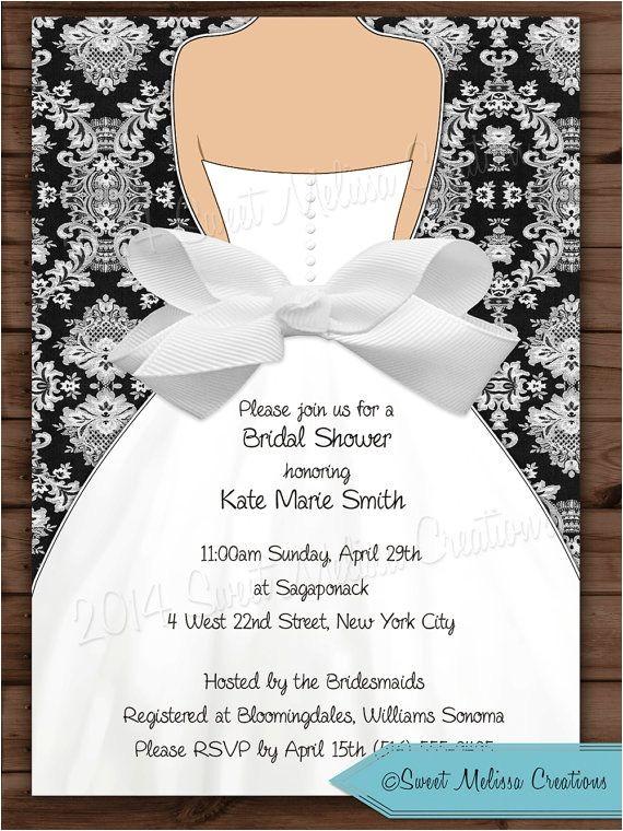 bridal shower honeymoon invitations