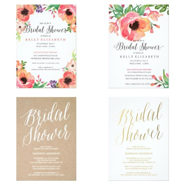 premium bridal shower invitations
