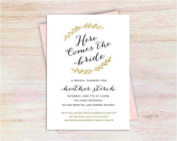unique bridal shower invitation bridal